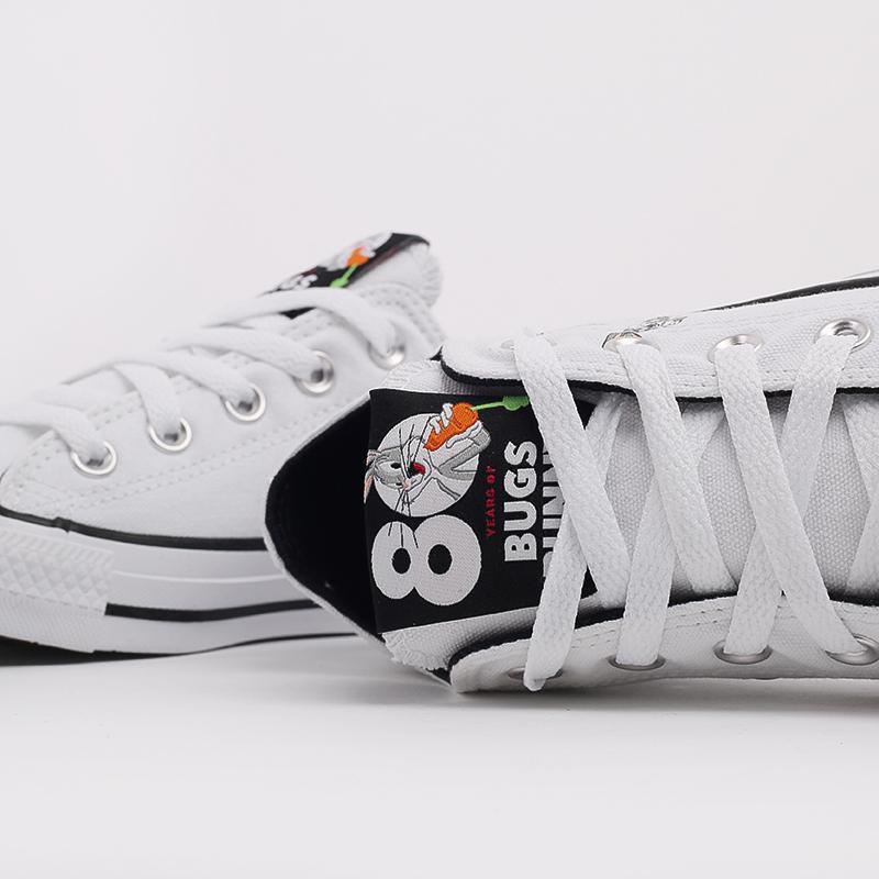 белые  кеды converse chuck taylor all star low top x bugs bunny 169226 - цена, описание, фото 5