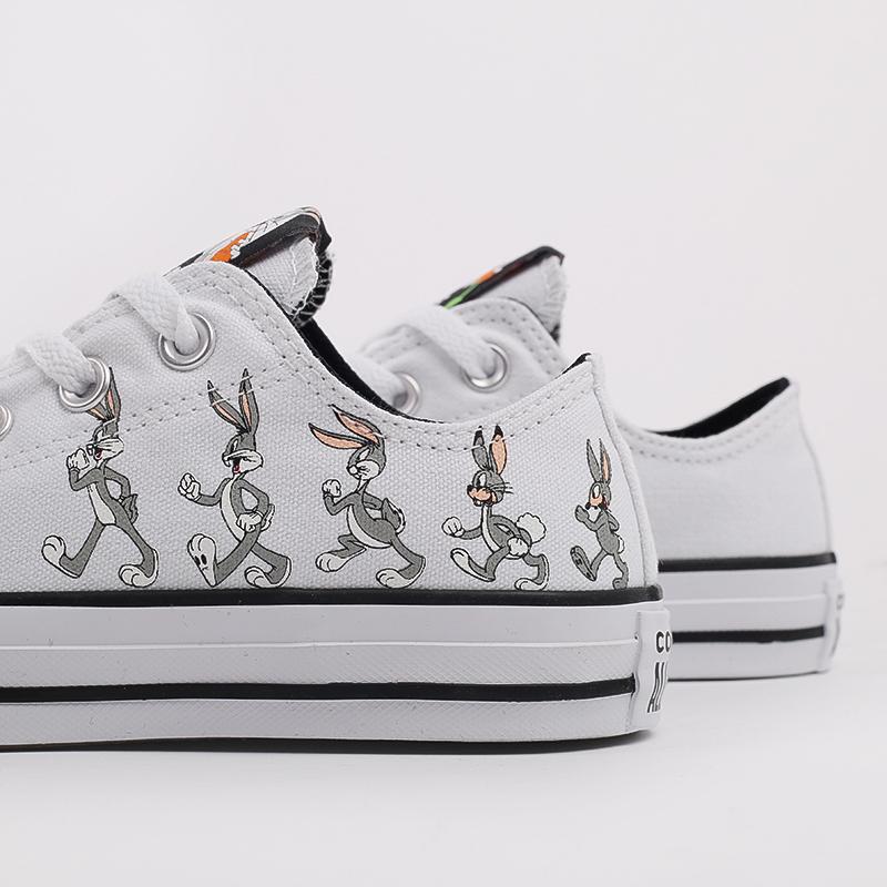 белые  кеды converse chuck taylor all star low top x bugs bunny 169226 - цена, описание, фото 6
