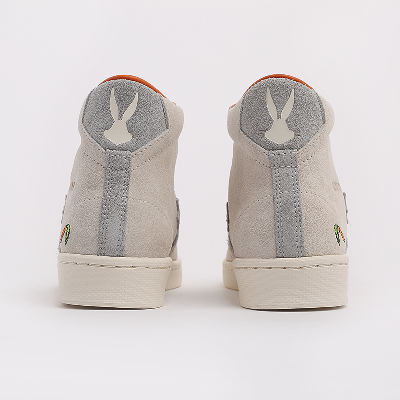 бежевые  кеды converse pro leather high top x bugs bunny 169223 - цена, описание, фото 4