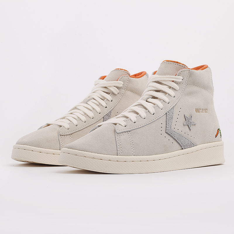 бежевые  кеды converse pro leather high top x bugs bunny 169223 - цена, описание, фото 2