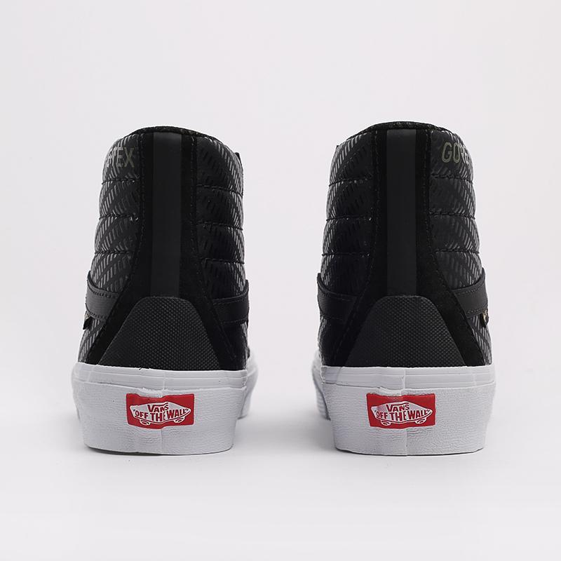 чёрные  кеды vans sk8-hi gore-tex VA4VJD23FM - цена, описание, фото 4