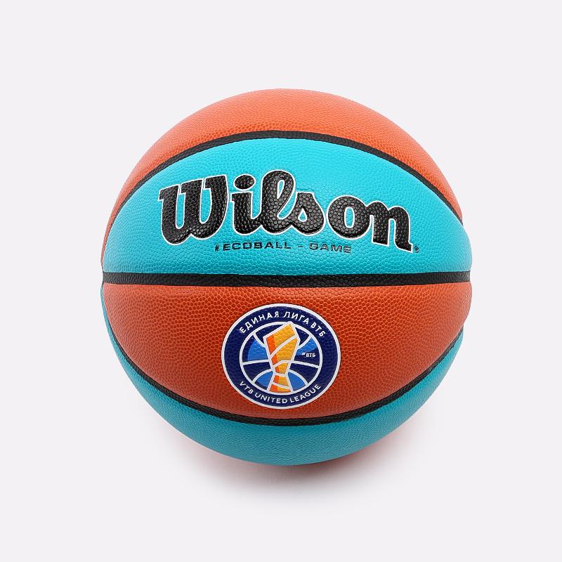 оранжевый, голубой  мяч №5 wilson sibur eco ball WTB0545XB - цена, описание, фото 2