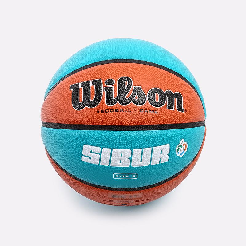 оранжевый, голубой  мяч №5 wilson sibur eco ball WTB0545XB - цена, описание, фото 1