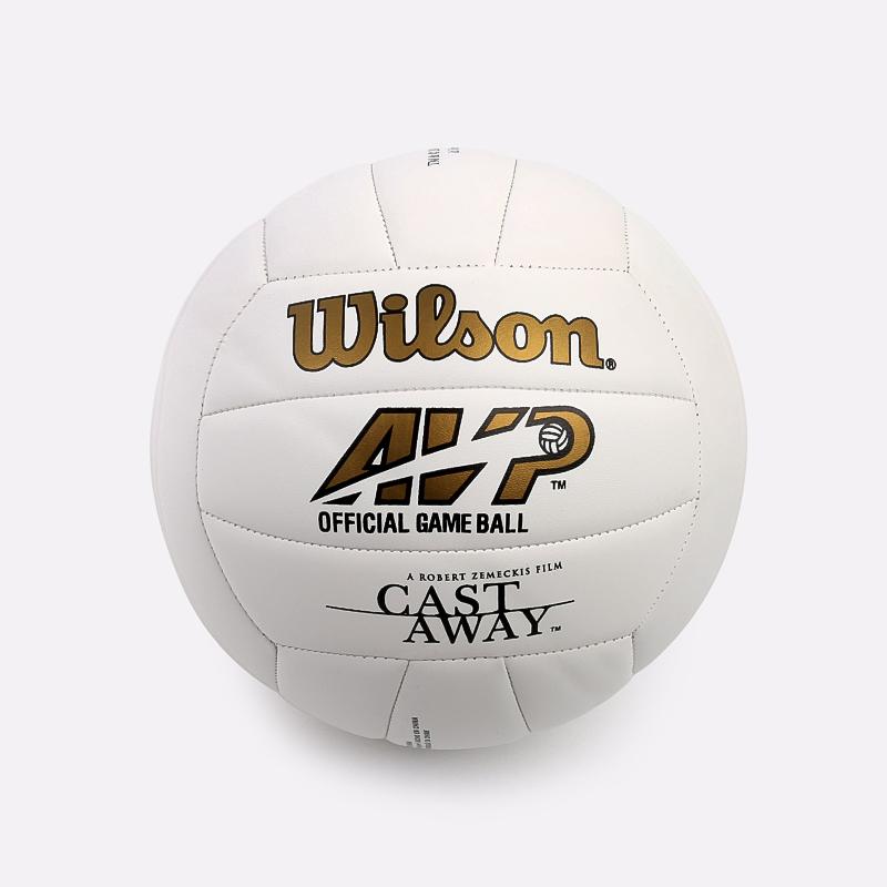 белый  мяч волейбольный wilson castaway WTH4615XDEF - цена, описание, фото 2