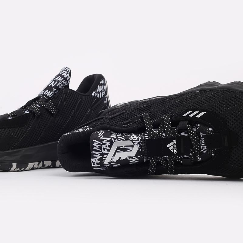 чёрные  кроссовки adidas dame 7 FX6615 - цена, описание, фото 7