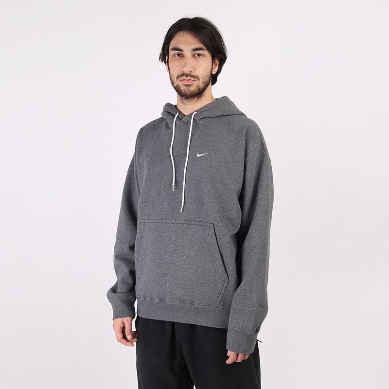 мужскую серую  толстовка nike nikelab washed hoodie CZ5350-071 - цена, описание, фото 1