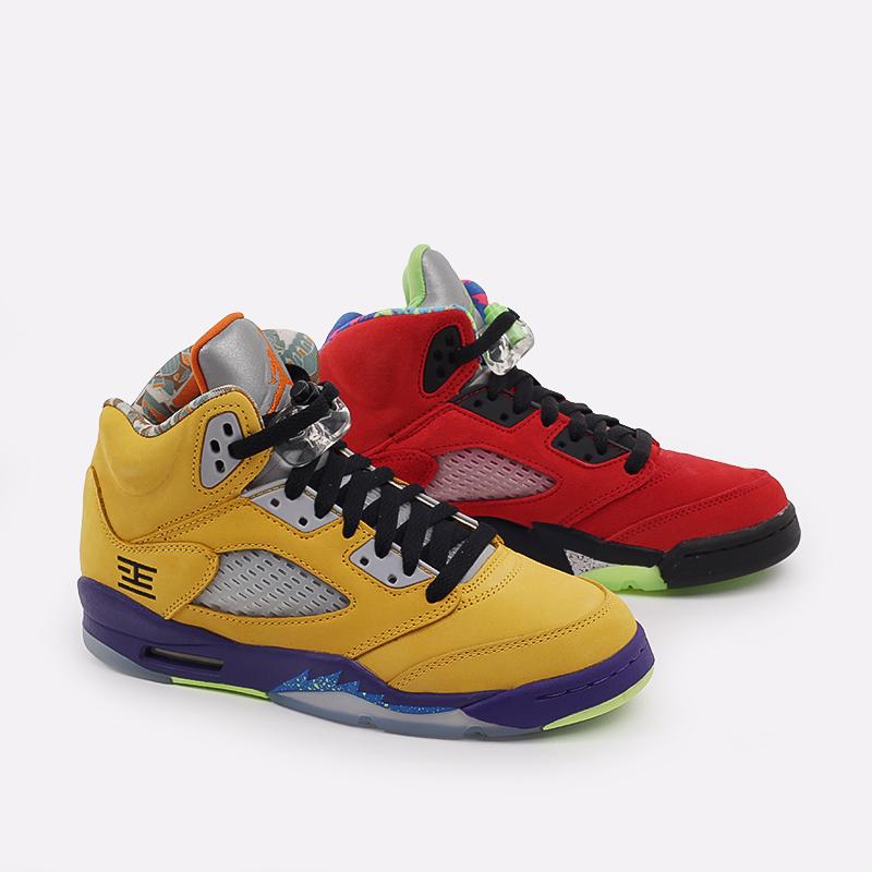 женские разноцветные  кроссовки jordan 5 retro se (gs) CZ6415-700 - цена, описание, фото 1
