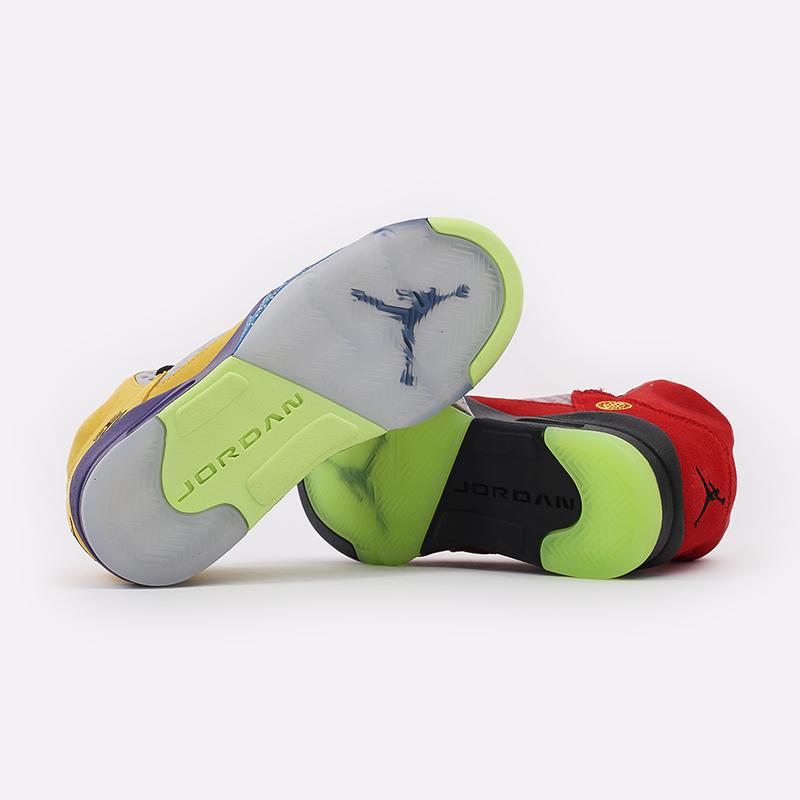 женские разноцветные  кроссовки jordan 5 retro se (gs) CZ6415-700 - цена, описание, фото 3