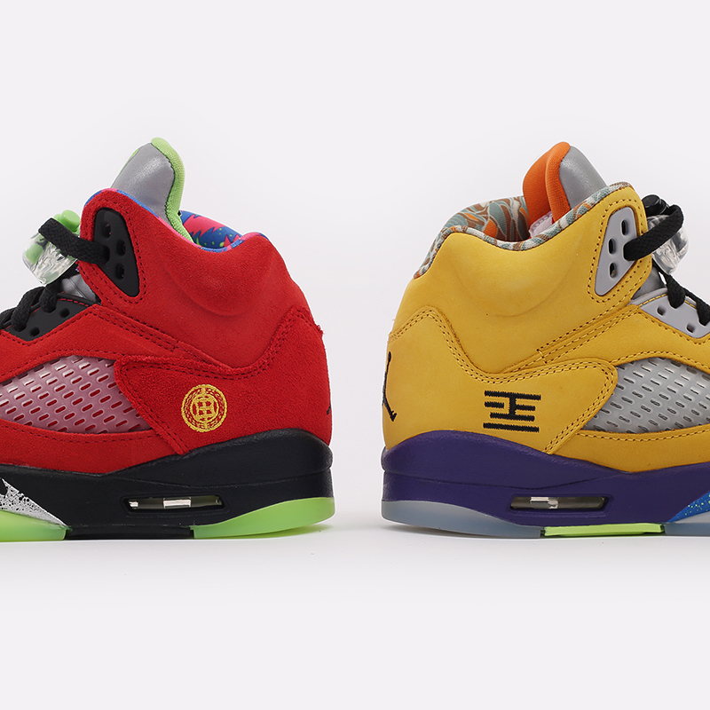 женские разноцветные  кроссовки jordan 5 retro se (gs) CZ6415-700 - цена, описание, фото 4