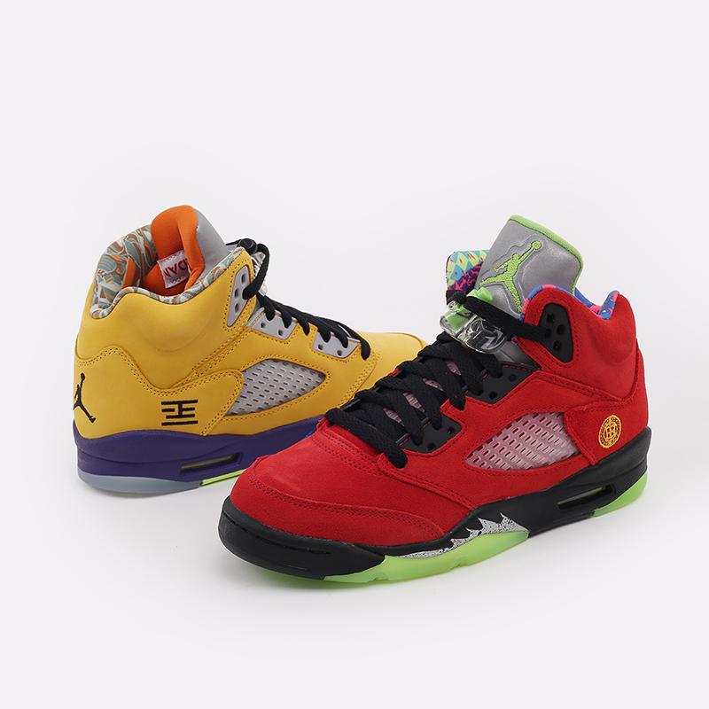 женские разноцветные  кроссовки jordan 5 retro se (gs) CZ6415-700 - цена, описание, фото 6