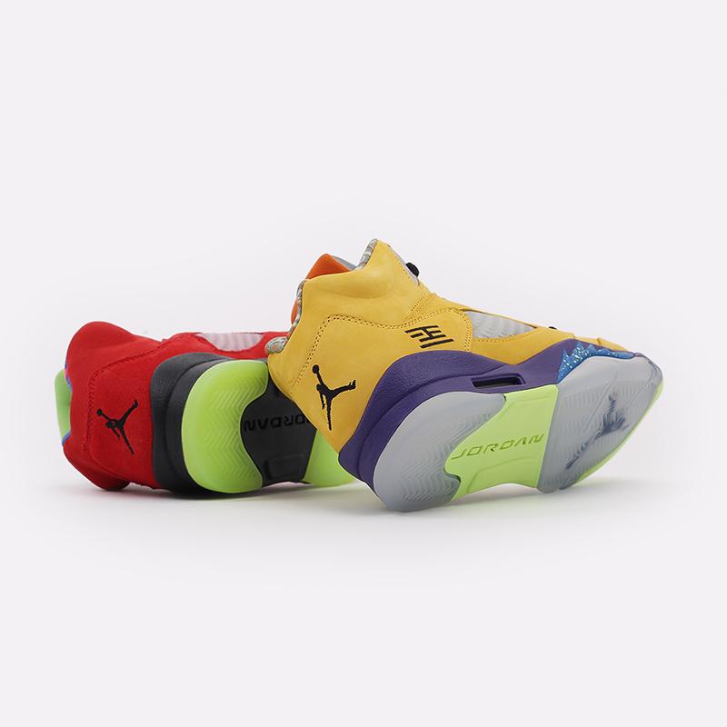 женские разноцветные  кроссовки jordan 5 retro se (gs) CZ6415-700 - цена, описание, фото 2