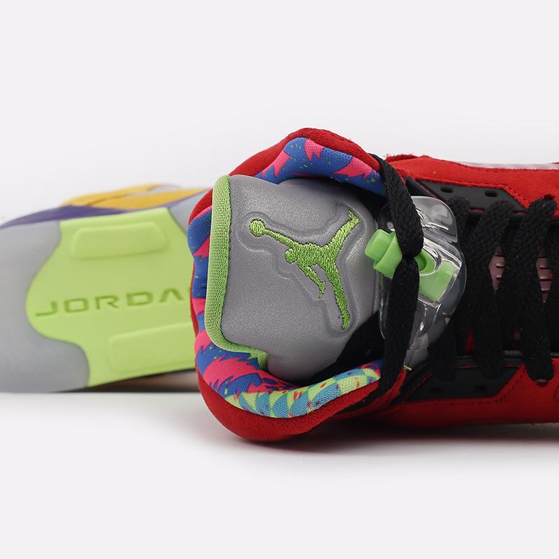 женские разноцветные  кроссовки jordan 5 retro se (gs) CZ6415-700 - цена, описание, фото 9