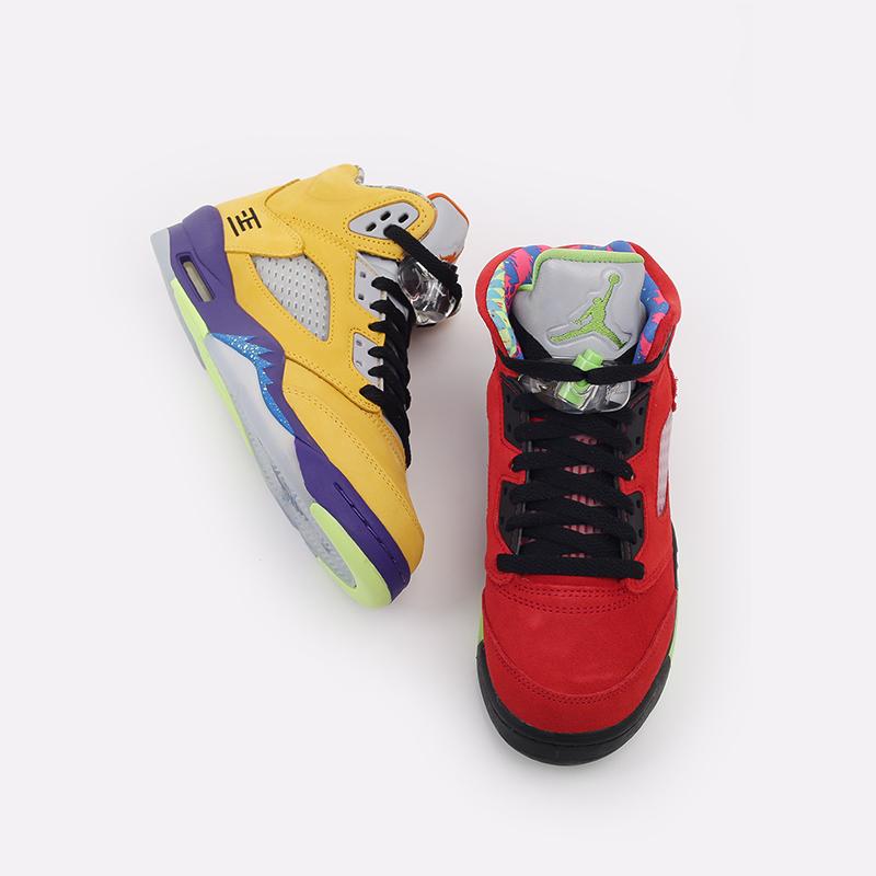 женские разноцветные  кроссовки jordan 5 retro se (gs) CZ6415-700 - цена, описание, фото 7