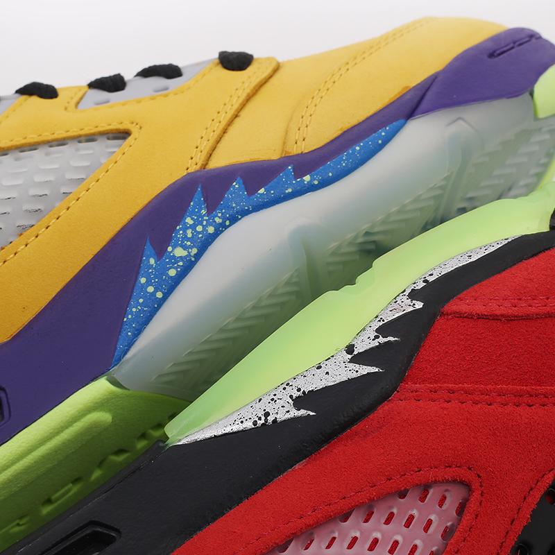 женские разноцветные  кроссовки jordan 5 retro se (gs) CZ6415-700 - цена, описание, фото 8