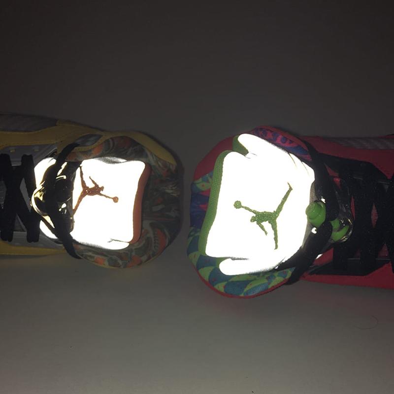 женские разноцветные  кроссовки jordan 5 retro se (gs) CZ6415-700 - цена, описание, фото 10