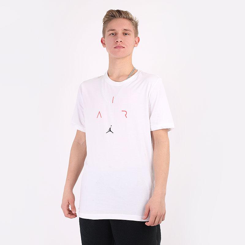 мужскую белую  футболка jordan air short-sleeve crew CN3575-102 - цена, описание, фото 1
