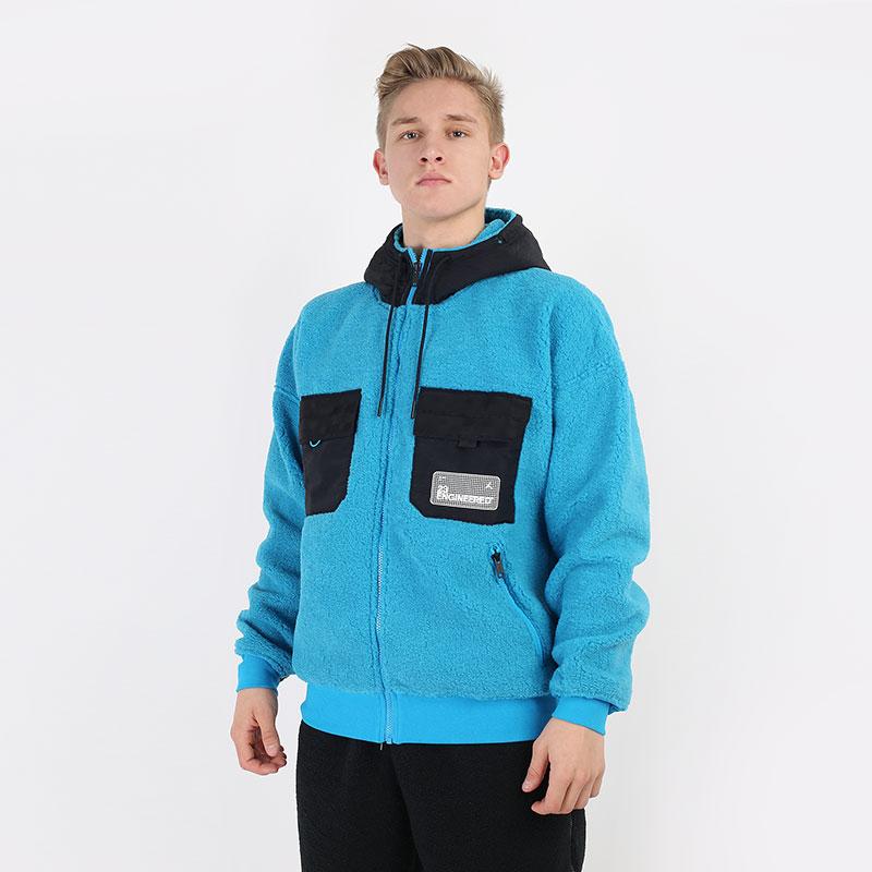 мужскую голубую  толстовка jordan 23 engineered hoodie CT3554-446 - цена, описание, фото 1