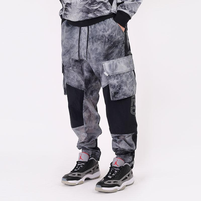 мужские серые  брюки jordan 23 engineered printed cargo trousers CU9057-100 - цена, описание, фото 1
