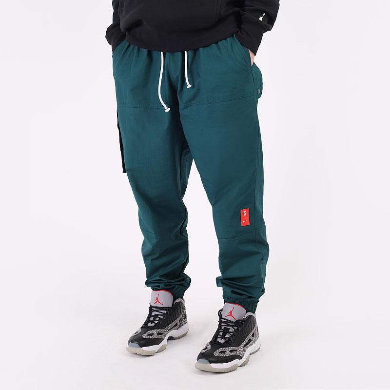 мужские зеленые  брюки nike kyrie cargo pants CK6757-300 - цена, описание, фото 1