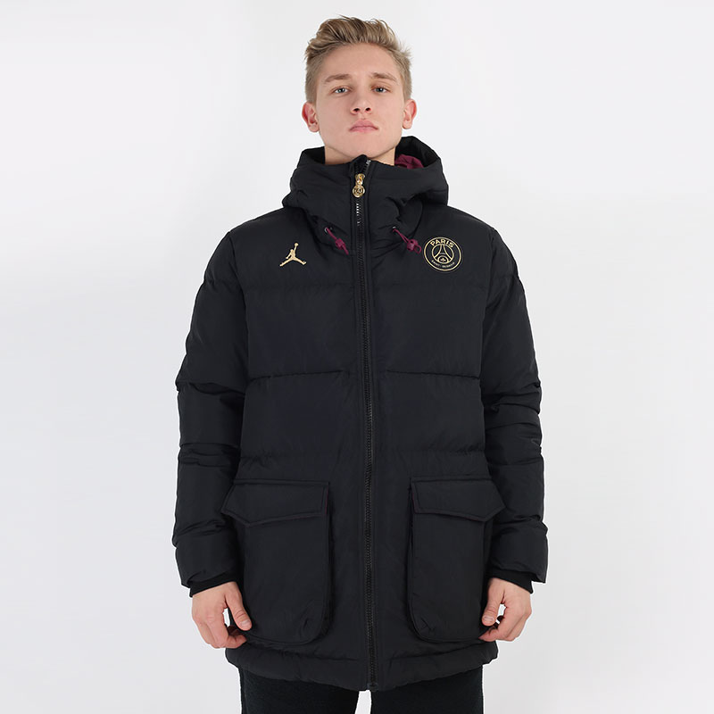 мужскую черную  куртку jordan paris saint-germain down parka solid CW3173-010 - цена, описание, фото 3