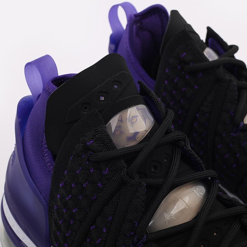 мужские чёрные  кроссовки nike lebron xviii CQ9283-004 - цена, описание, фото 7