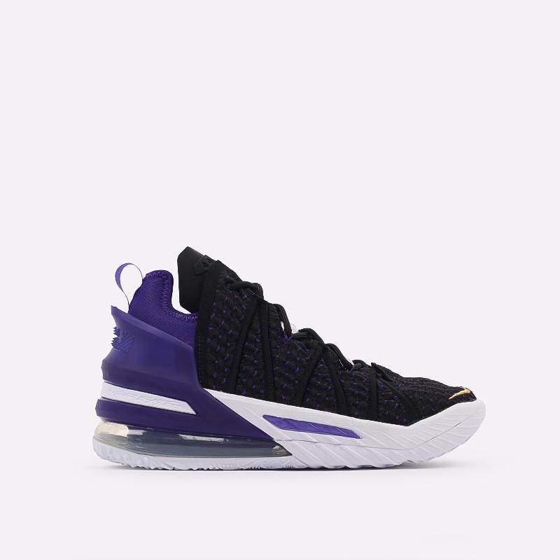 мужские чёрные  кроссовки nike lebron xviii CQ9283-004 - цена, описание, фото 1
