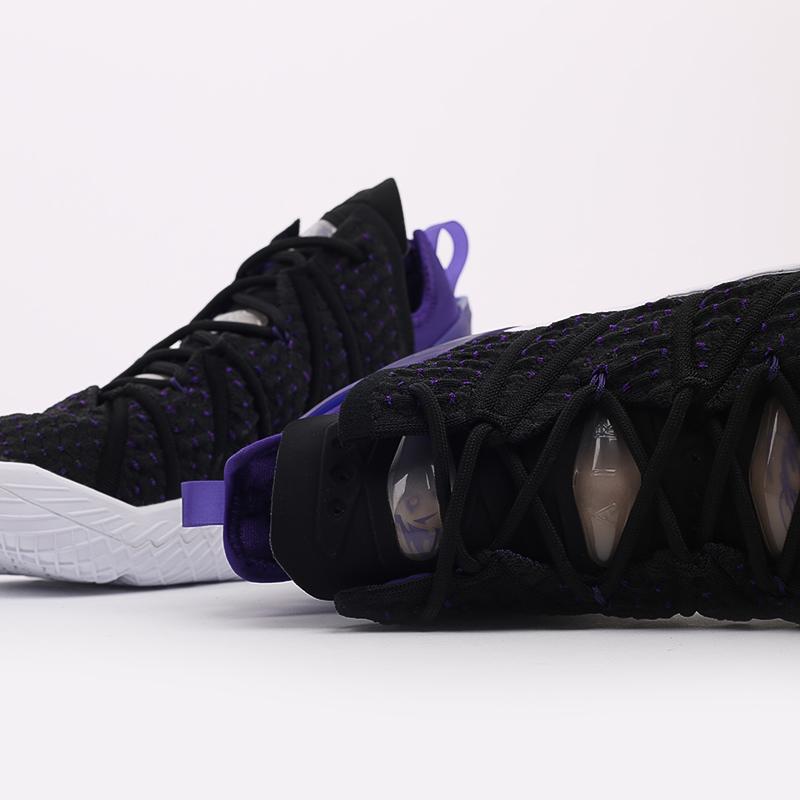 мужские чёрные  кроссовки nike lebron xviii CQ9283-004 - цена, описание, фото 5