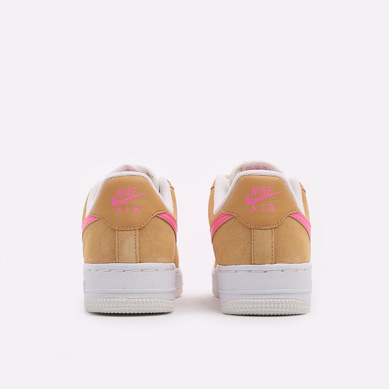 женские коричневые, белые, розовые  кроссовки nike wmns air force 1 '07 DC1156-700 - цена, описание, фото 3