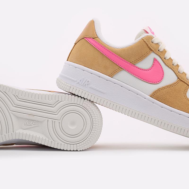 женские коричневые, белые, розовые  кроссовки nike wmns air force 1 '07 DC1156-700 - цена, описание, фото 7