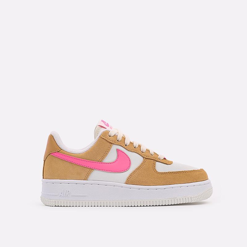 женские коричневые, белые, розовые  кроссовки nike wmns air force 1 '07 DC1156-700 - цена, описание, фото 1