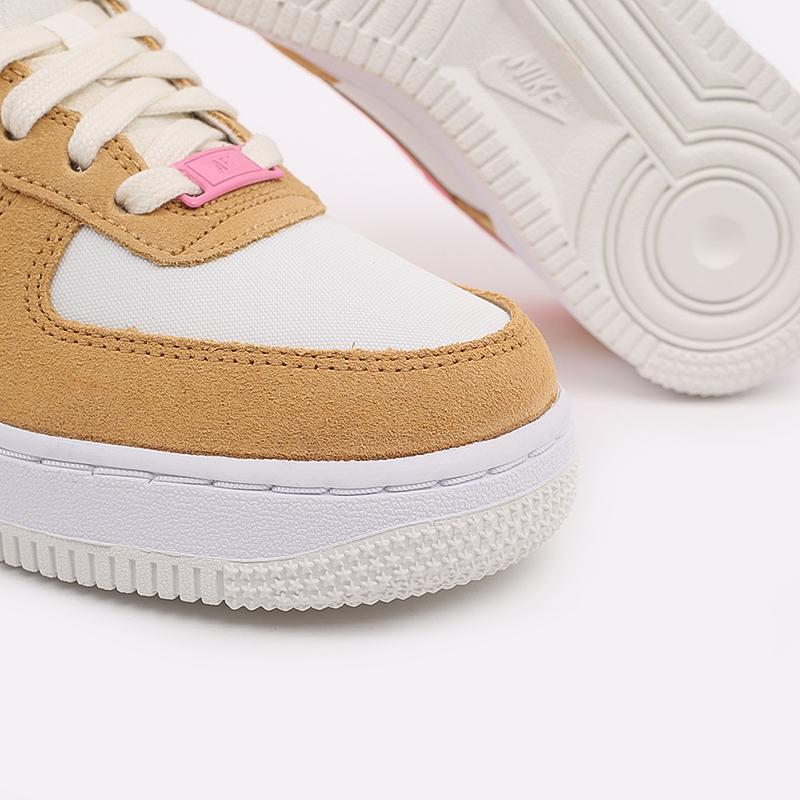 женские коричневые, белые, розовые  кроссовки nike wmns air force 1 '07 DC1156-700 - цена, описание, фото 5