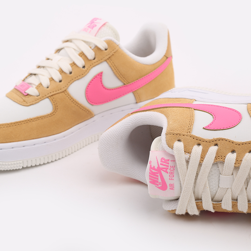 женские коричневые, белые, розовые  кроссовки nike wmns air force 1 '07 DC1156-700 - цена, описание, фото 6