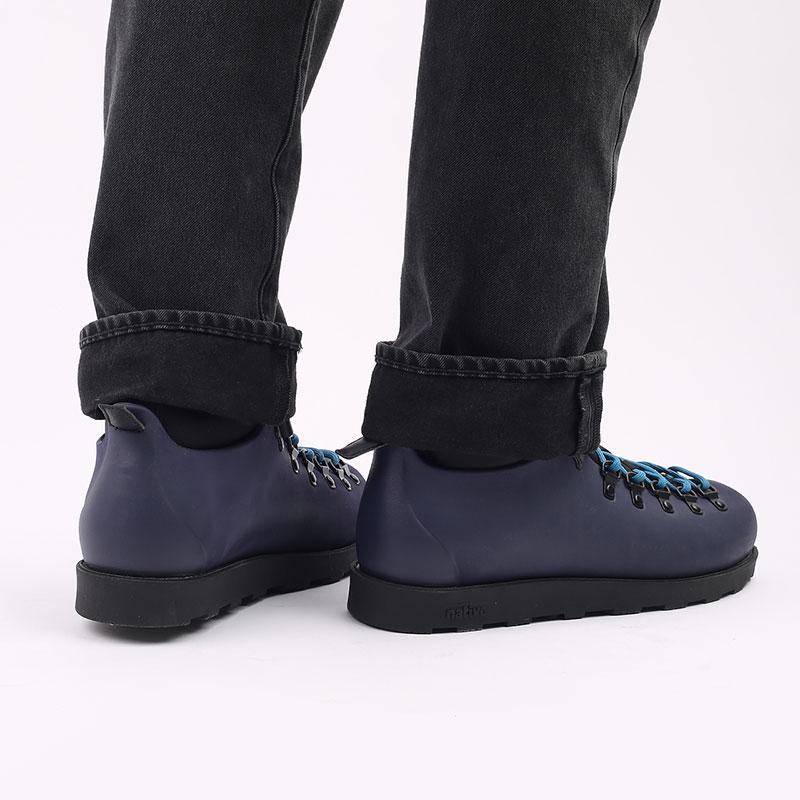 мужские синие  ботинки native fitzsimmons citylite 31106800-4998 - цена, описание, фото 9