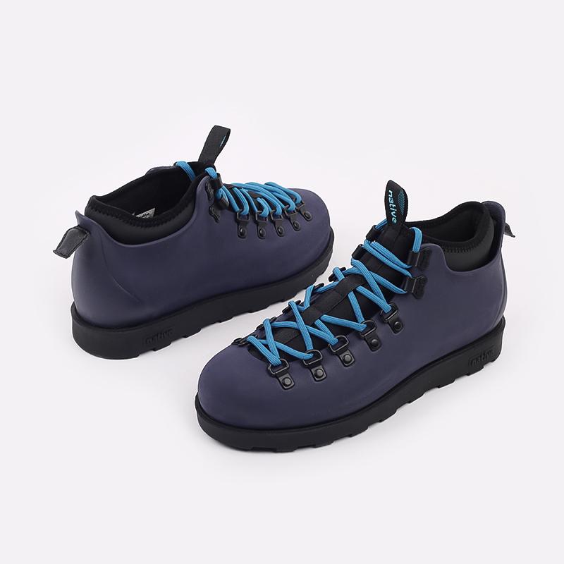 мужские синие  ботинки native fitzsimmons citylite 31106800-4998 - цена, описание, фото 5