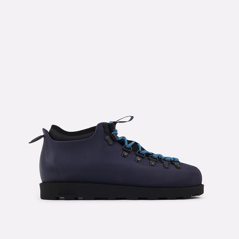 мужские синие  ботинки native fitzsimmons citylite 31106800-4998 - цена, описание, фото 1