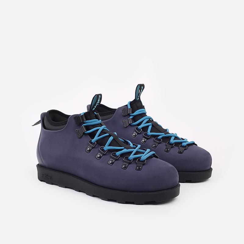 мужские синие  ботинки native fitzsimmons citylite 31106800-4998 - цена, описание, фото 2