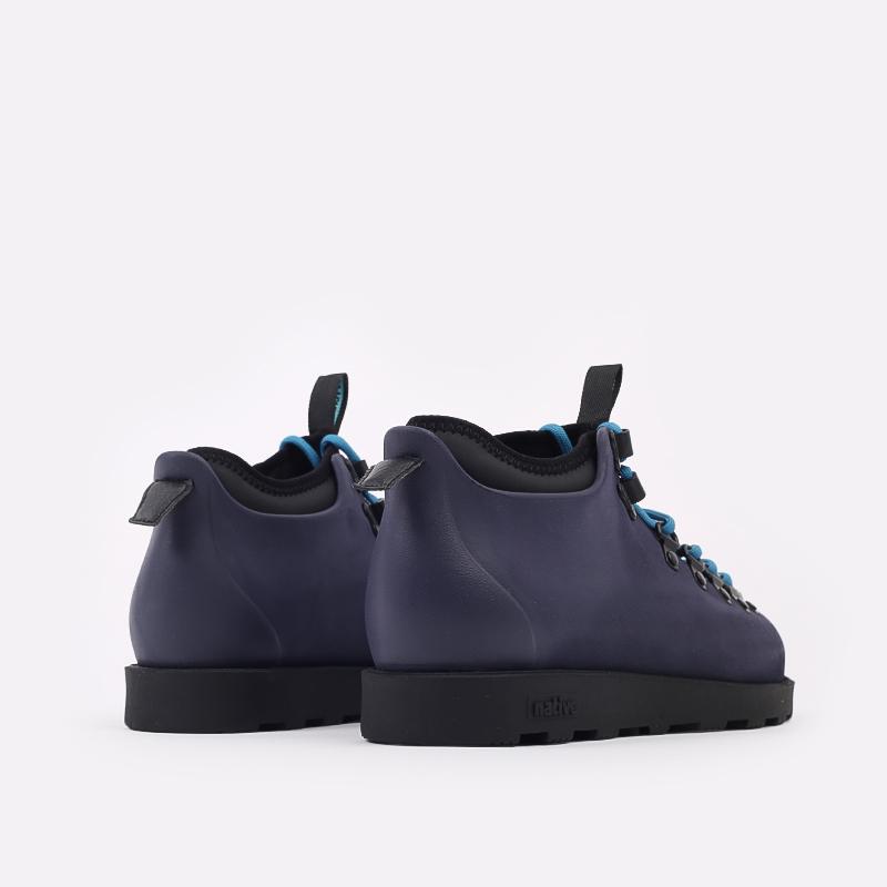 мужские синие  ботинки native fitzsimmons citylite 31106800-4998 - цена, описание, фото 3