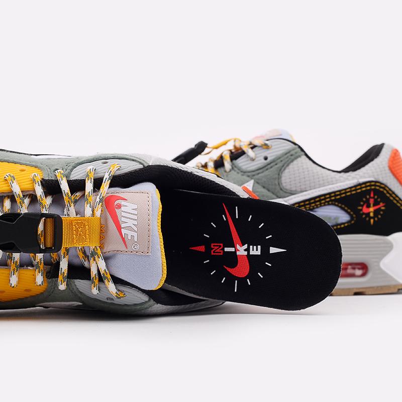 мужские разноцветные  кроссовки nike air max 90 DC2525-300 - цена, описание, фото 7