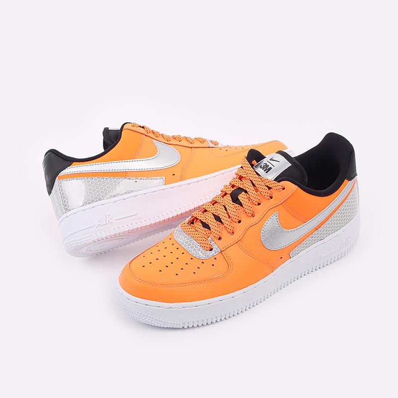 мужские оранжевые  кроссовки nike air force 1 '07 lv8 3m CT2299-800 - цена, описание, фото 4