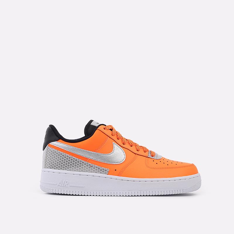 мужские оранжевые  кроссовки nike air force 1 '07 lv8 3m CT2299-800 - цена, описание, фото 1