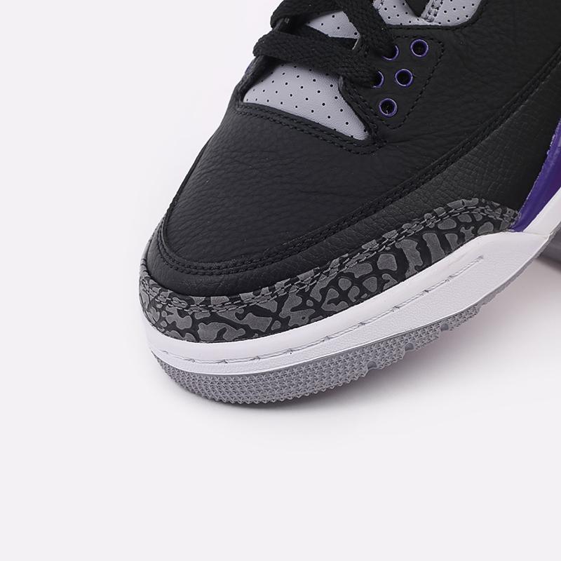 мужские чёрные  кроссовки jordan 3 retro CT8532-050 - цена, описание, фото 6