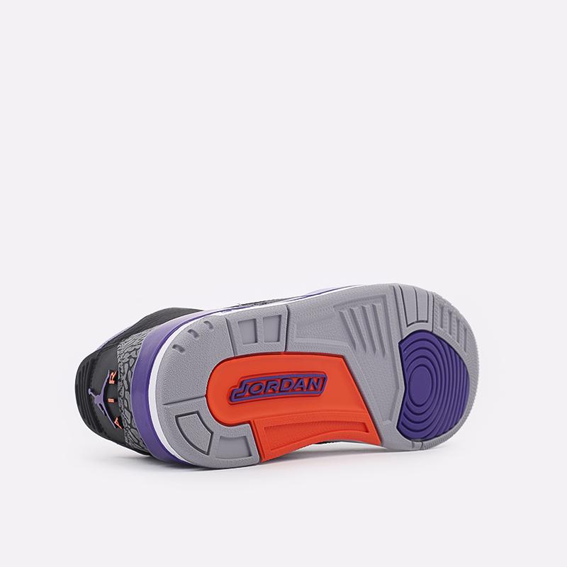 мужские чёрные  кроссовки jordan 3 retro CT8532-050 - цена, описание, фото 3