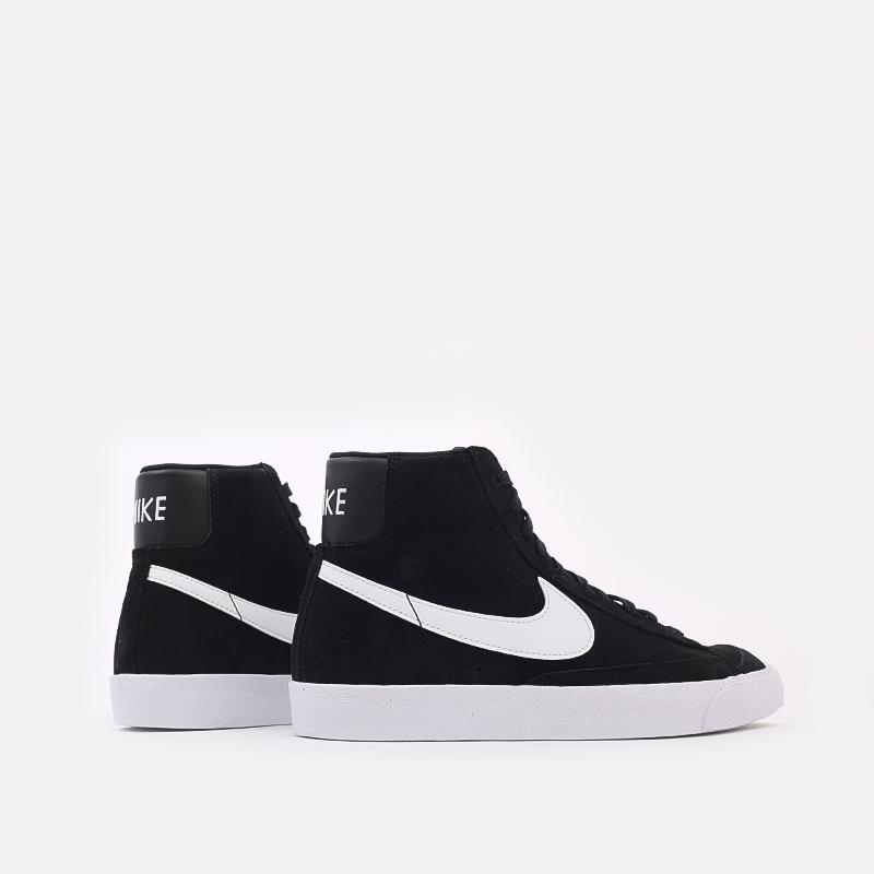 мужские чёрные  кроссовки nike blazer mid '77 suede CI1172-005 - цена, описание, фото 4