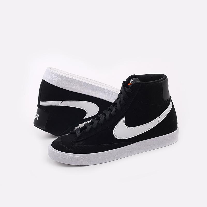 мужские чёрные  кроссовки nike blazer mid '77 suede CI1172-005 - цена, описание, фото 7