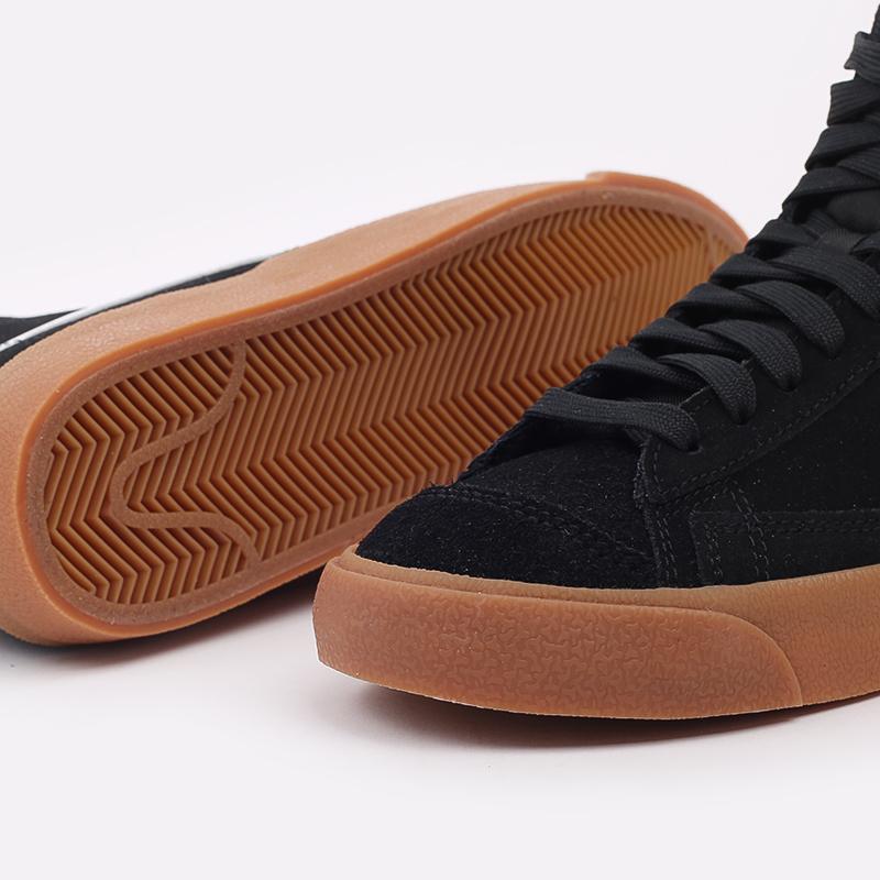 женские чёрные  кроссовки nike wmns blazer mid '77 suede DB5461-001 - цена, описание, фото 7