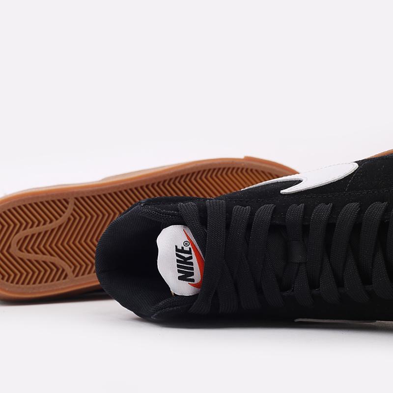 женские чёрные  кроссовки nike wmns blazer mid '77 suede DB5461-001 - цена, описание, фото 8