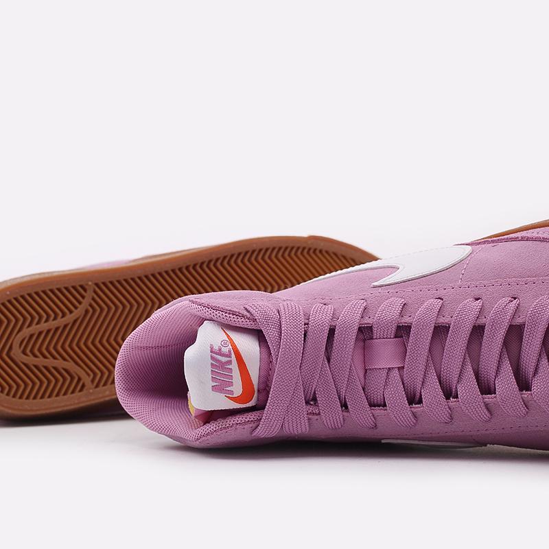 женские розовые  кроссовки nike wmns blazer mid '77 suede DB5461-600 - цена, описание, фото 9