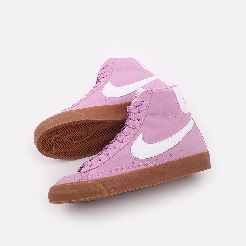 женские розовые  кроссовки nike wmns blazer mid '77 suede DB5461-600 - цена, описание, фото 8