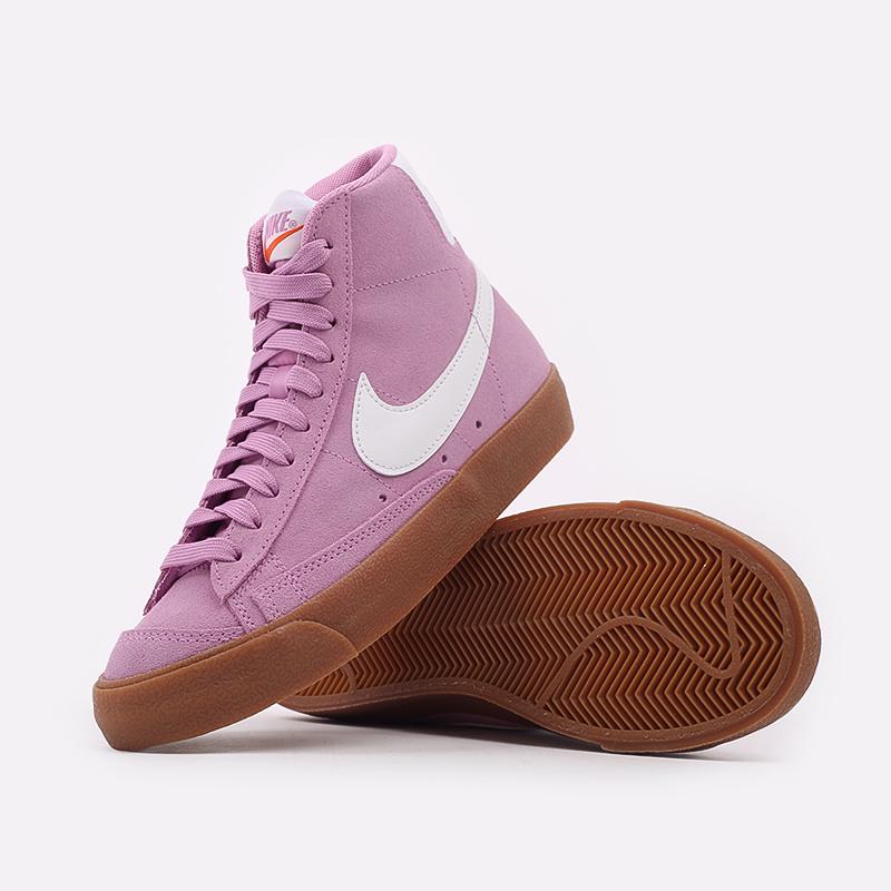 женские розовые  кроссовки nike wmns blazer mid '77 suede DB5461-600 - цена, описание, фото 5