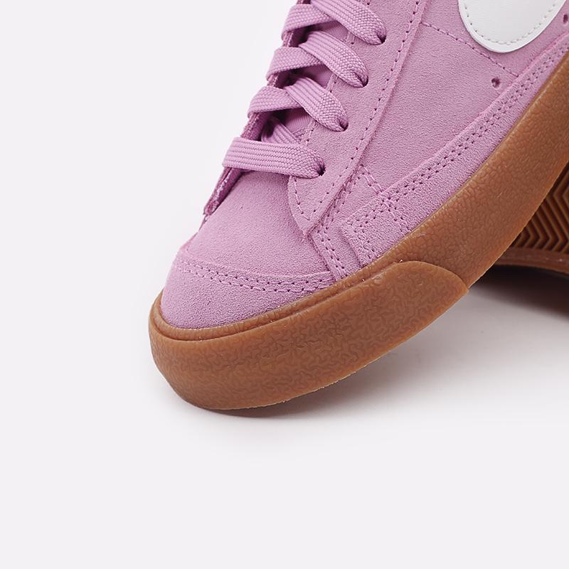 женские розовые  кроссовки nike wmns blazer mid '77 suede DB5461-600 - цена, описание, фото 6